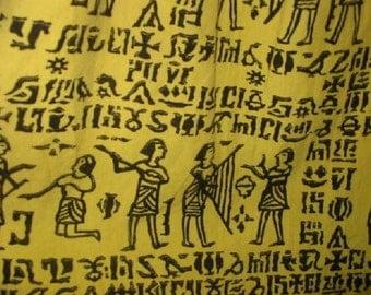King Tut Egyptian Print Yellow Skirt
