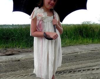 Victorian Cupcake Dress, POLLY, Little Girls Dress, Flower Girl, Vintage Doily Dress