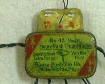 Thumbtacks Bug Wall Hanging Ornie- Mixed Medium Piece - Moore Brand
