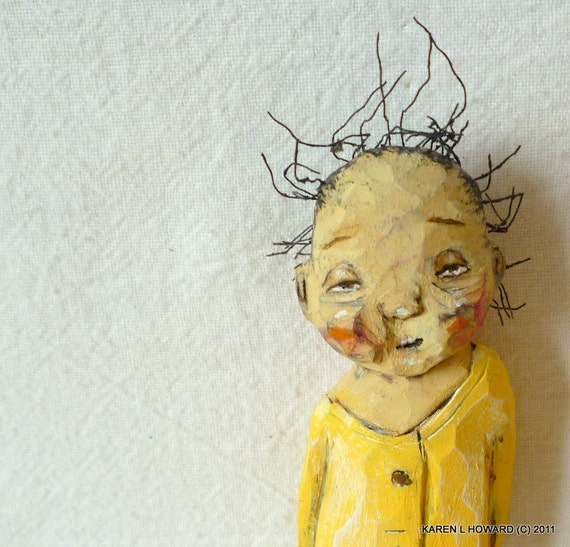 Sleepy Merbabe in Yellow Jammies - - OOAK
