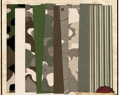 Boy Camo Paper Pack DOWNLOADABLE ONLY