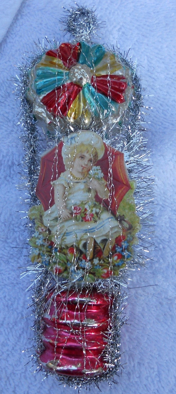 Dresden Wire Wrapped Victorian Christmas Ornament by SFDesigns