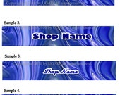 Banner and Avatar Set for Your Etsy Shop, Swirly Blue