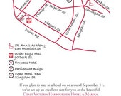 Custom Wedding Map Printable DIY