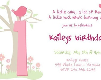 Custom printable birthday invitation