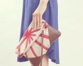 Black Friday Cyber Monday NOMAD Collection - STELLA Leather & Kimono Clutch vintage geometric