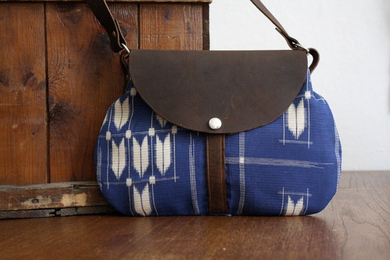 NOMAD Collection - Hazel Bag - Leather & Kimono Purse - arrow chevron