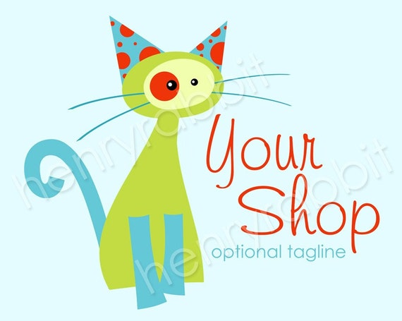 Charlie the Cat Logo - Complete Business Package - 22 Graphics Included