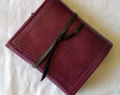 BelleReverb purple leather wallet