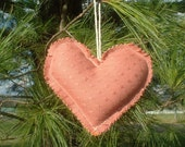 Heart of Second Chances Holiday Ornament Upcycled