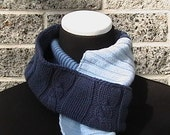 Blues for Days - Scarf of Many Sweaters - Eco friendly OOAK