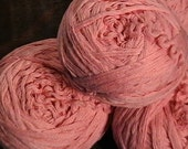 Bubble Gum Pink Cotton RECLAIMED Yarn