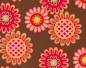 1 Fat Quarter Pillow and Maxfield Ooh, La La Fabric Les Fleurs Spice