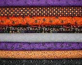 """Moda Happy H """"owl"""" o - ween  Fabric by Deb Strain  - Halloween Trick or Treat Owls,  1/2 yard each, 4 yards, Sale"""