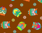 What a Hoot Peace Owls by Ro Gregg Fabric,  Modern Fabric, Clearance, 15 inches