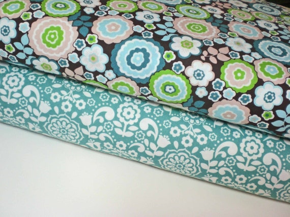 Anthology BONJOUR FLORAL Fabric, 1/2 yards of each