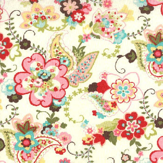 Moda Chez Moi Sophie Fabric - Paisley Floral, 28 inches