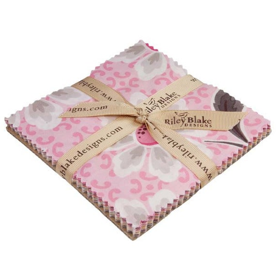 Riley Blake  Daisy Cottage Charm Pack  25 five inch squares, Sale