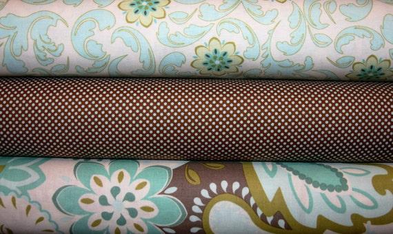 3 Fat Quarters Verona  by Emily Taylor  - Riley Blake Fabric, Designer Fabric