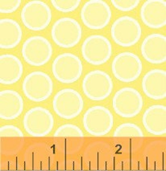 Windham Fabric Basic Brights  -  Polka Dots Buttercup Yellow, Clearance