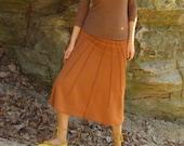 ORGANIC Lovely Day Wanderer Below Knee Skirt ( light hemp and organic cotton knit ) Hemp Skirt