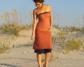 ORGANIC Love Me 2 Times Simplicity Short Dress ( light hemp and organic cotton blend ) - organic dress