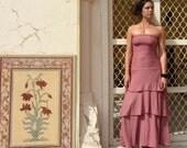 ORGANIC Love Me 2 Times Long Fountain Dress ( light hemp and organic cotton knit ) - organic dress