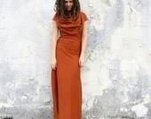ORGANIC Super Cowl Stretchy Long Dress (organic cotton lycra)