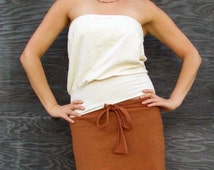 ORGANIC Floating Tube Top - ( light hemp and organic cotton knit  ) - organic shirt