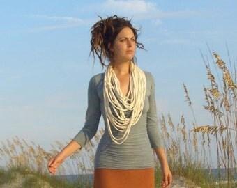 ORGANIC Women's Scarf GIFT - Squid Scarf (LIGHT Hemp/Organic Cotton Knit)