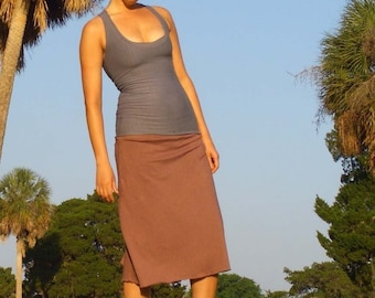 ORGANIC Simplicity Below Knee SkOrt (light hemp/organic cotton knit) - organic skirt