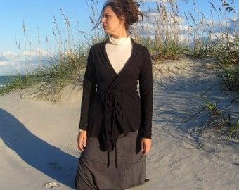 ORGANIC Belted Cardigan (light hemp/organic cotton knit)