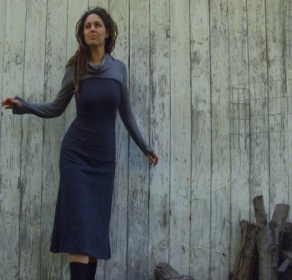ORGANIC Love Me 2 Times Simplicity Below Knee Fleece Skirt (organic hemp/cotton fleece)