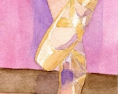 Ballet Slippers Dance Shoes  4 X 6 Reproduction of my watercolor painting