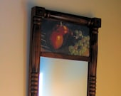 Fruit Apples Still life Hall Art Mirror 9.5 X 17.5 inches One of a kind Decor