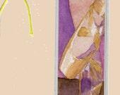 Ballet Slippers Bookmark Watercolor Print