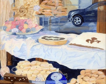 Bakery Window Confections Florence Italy Giclee Reproduction 14x11