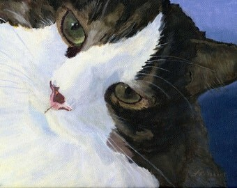 Cute Kitty Cat Portrait Face Pet Giclee Reproduction 8x10