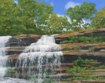 Waterfalls Landscape Pixley Falls nature Giclee Reproduction 12x9