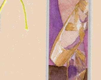 Ballet Slippers Bookmark Watercolor Print