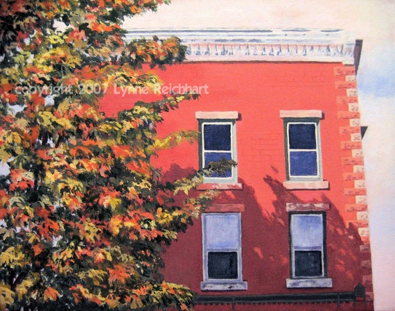 Weathered Brick Building Acrylic Painting Giclee By Artbylmr