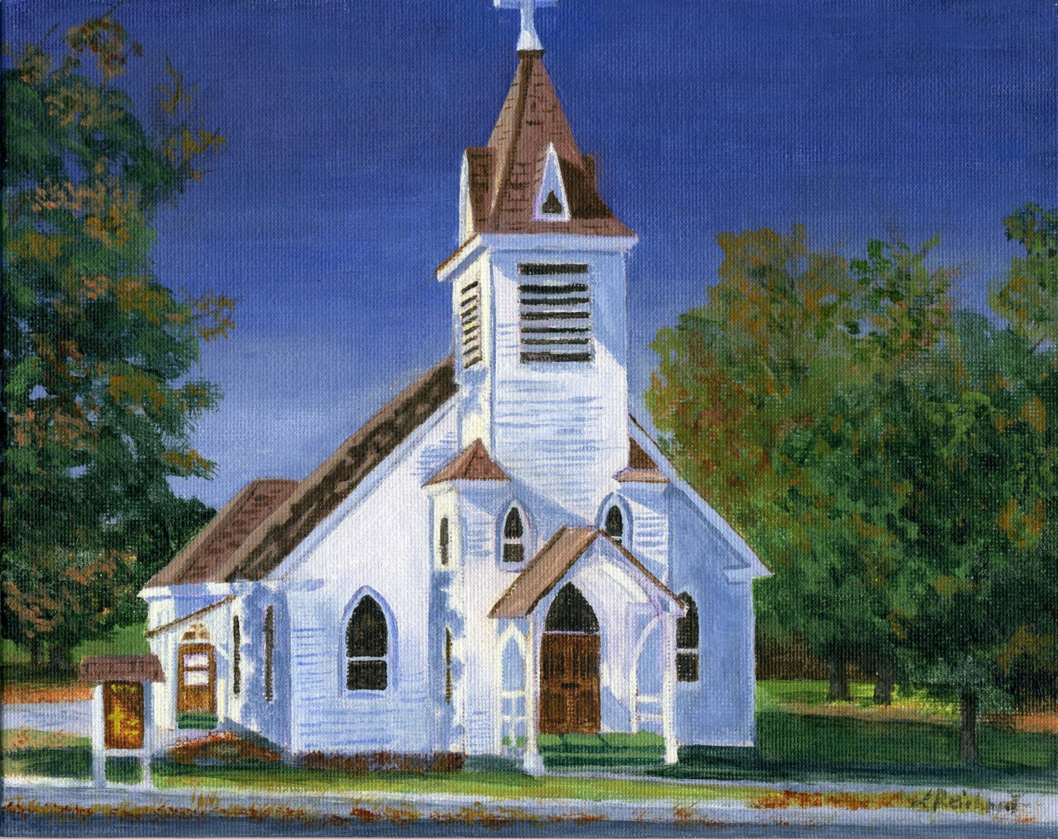 English Churches To Paint In Acrylics