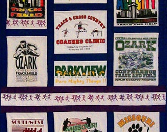 Custom T-shirt Quilt made with your 18 t-shirts