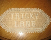 New Crochet NAME Doily with 2 Rows of Letters up to 12 Letters