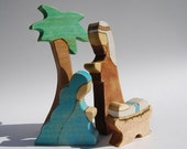 Holy Family Nativity Toy Set with Palm Tree LAST ONE