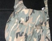 Upcycled Camouflage Messanger Bag