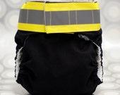 Black Firefighter AIO Cloth diaper-Medium