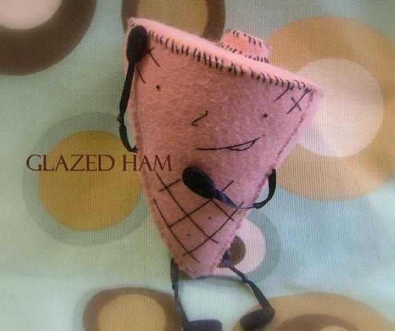 Felt Sculpture Glazed Ham