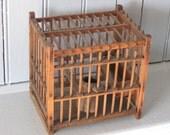 Vintage Coal Miner's Bird Cage