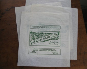 4 Green Pastures Sweet Butter Waxed Paper Wraps